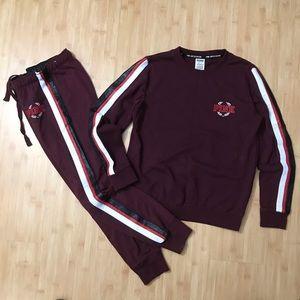 VS Pink Limited Edition Sweatpants Sweatshirt Set